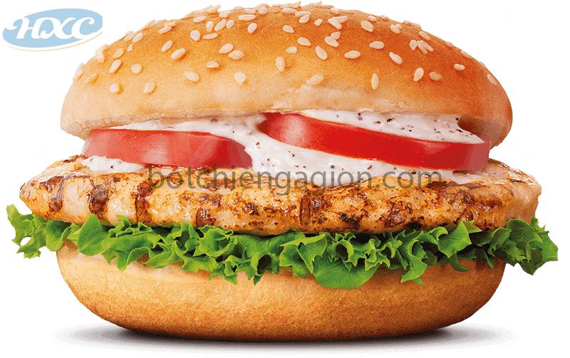 Burger Gà nướng mật ong ngon